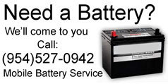 Mobile Battery Service Fort Lauderdale Area